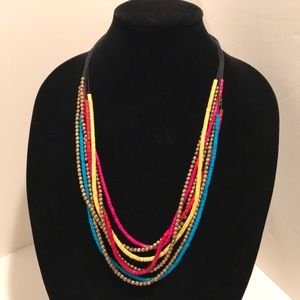 Jewelry - Black and colorful bead necklace